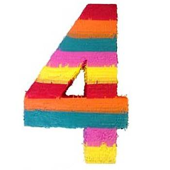 Contemos con Imagenes Number-4-shaped-pinata